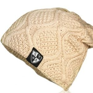 TAN SLOUCHED BEANIE